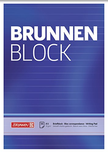 Brunnen 1052427 Briefblock / Schreibblock / Der Brunnen Block (A5, liniert, 50 Blatt, 70g/m²)
