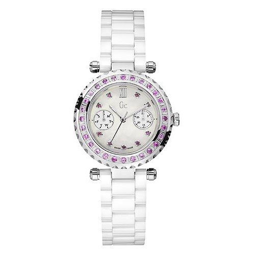 Reloj Guess Collection Gc Diver Chic 37 Diamon I92000l1 Mujer Nácar