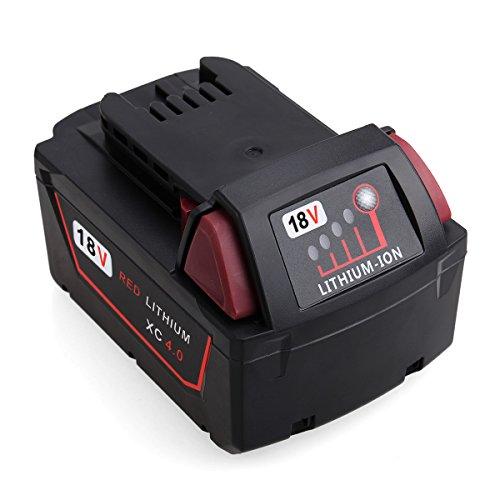 Preisvergleich Produktbild FLAGPOWER 18V 4.0Ah Werkzeug Batterie Ersatz Milwaukee Akku 18V Li-ion für Milwaukee M18 XC 48-11-1815 48-11-1820 2601 2610 2611 2620 2630 2650 (4000mAh 1 Stück)