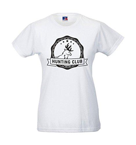 Girlie-Shirt - Jagdclub Weiß
