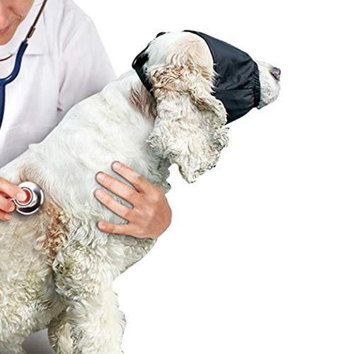 Beruhigende Kappenaugenmaske for Hunde - Verstellbare Schattierungsmaske for Haustier, Angst, Nylonhalsband - Augenmaske zum Öffnen von Haustieraugen, zum Schneiden von Hundehaar, Waschbad, Prune Claw (Eishockey Hunde Kostüm)