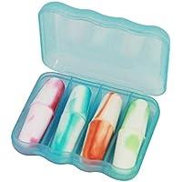 4 Paare in Box Ohrstöpsel,Bunt Schlaf Ohrenstöpsel schlafen Anti-Rausch-Ohrstöpsel preisvergleich bei billige-tabletten.eu