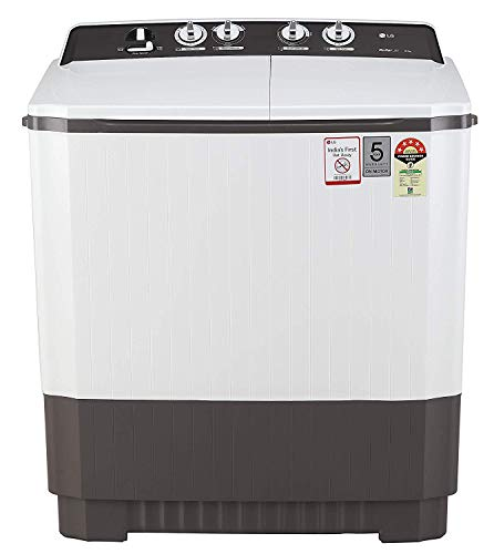 LG 9 kg 5 Star Semi-Automatic Top Loading Washing Machine (P9040RGAZ, Grey)