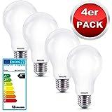 Philips LED Lampe Multipack 4 Stück, ersetzt 100W Leuchtmittel, neutralweißes Licht 4000 Kelvin, LED Glühbirne mit starke 1521 Lumen, Elegantes Matt Glasdesign, spart bis zu 90% Energie, 230V, EEK A++