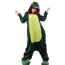 Aivtalk - Franela Onesies Pijamas Adulto Unisex Costume Disfraces de Animales con Capucha Divertido Para Carnaval Halloween Navidad Ropa de Dormir Cosplay Disfraces Homewear Talla S / M / L / XL