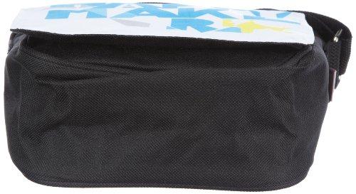 Poodlebags, young Art 3YA0312RRSHAPB, Borsa messenger unisex bambino, 17 x 6 x 19 cm (L x A x P), Nero (Schwarz (black)), 17 x 6 x 19 cm (L x A x P) Nero (Schwarz (black))