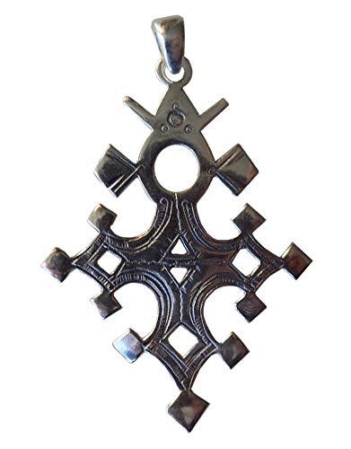 Großes Kreuz des Südens Touareg, Barchakea, aus massivem Sterling-Silber 925, mit Lederband TOU17(2)