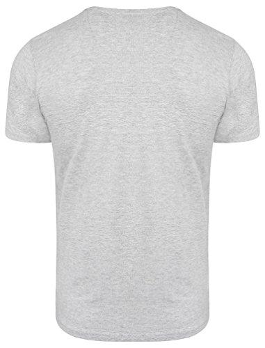 Dissident Herren Convex Grafik Druck Rundhals Kurzärmlig Regulär Beiläufig T-Shirt Größe S-XXL Grau