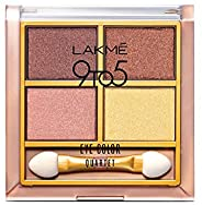 Lakmé 9 to 5 Eye Color Quartet Eye Shadow, Desert Rose, 7g