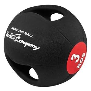 Bad Company I Pro Grip Medizinball I Fitnessball mit Doppelgriff I 3 Kg – 10 Kg I Einzeln oder im Set