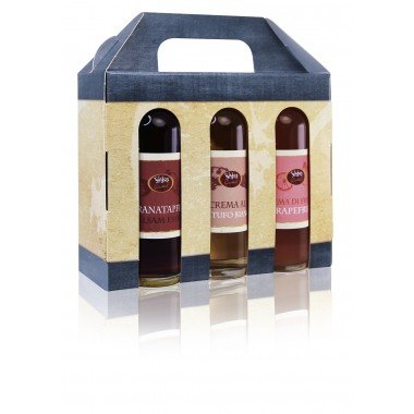 WAJOS Genuss & Geschenk Set Essig und Öl (6 x 40ml in Geschenkbox)
