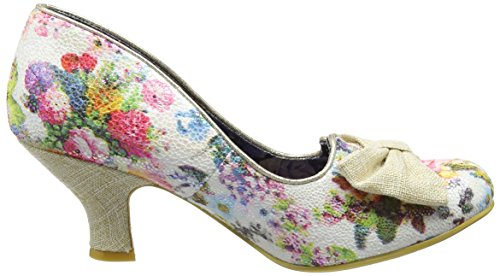 Irregular Choice Dazzle Razzle, Escarpins femme White (White Metallic)