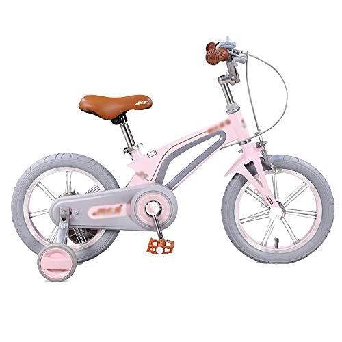 Kinderfahrräder HAIZHEN Mädchen, 2-3-6 Jahre altes Princess Light Bike mit Stützrädern und Klingel (14 Zoll / 16 Zoll) (Color : Pink, Size : 14inch)