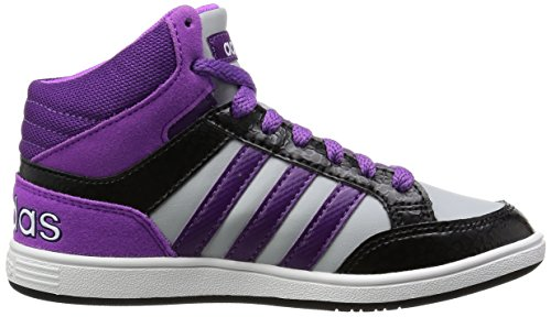 Adidas AW5130 Sneakers Fille Blanc-Noir-Violet
