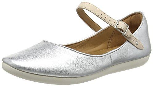Clarks Feature Film, Damen Mokassin, Grau (Silver Leather), 39 EU (5.5 Damen UK)