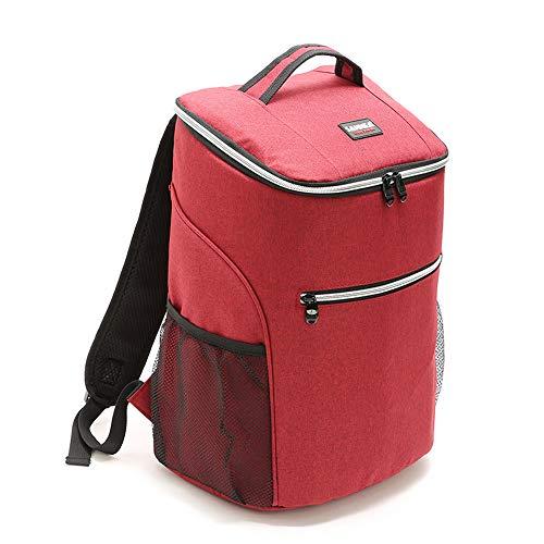 TADYL 20L 600D Oxford Lunch Bag, Große Kühltasche Lunch Picknick Box Isoliert Kühlen Rucksack Eisbeutel, Geeignet Für Picknicks Im Freien,Red (Kleinkinder Lunch-boxen Für)