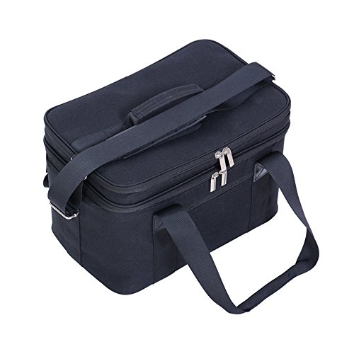 Baonmy borsa termica per campeggio/picnic basket food Carry Bag Cool bag lunch box Tote Cooler Ice Pack Black