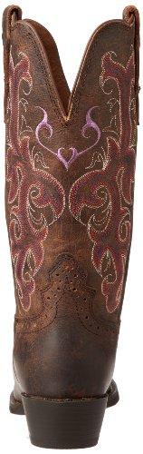 Justin Boots L2562 Cuir Santiags Chocolate Puma