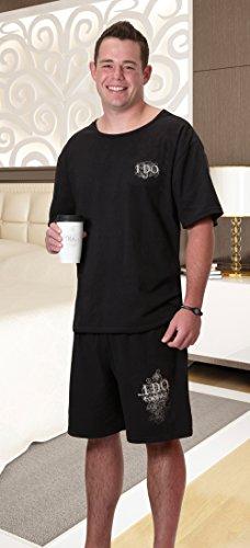 Lillian Rose Grooms Pajama Set, Small, Black