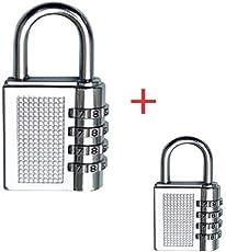 TUFFSTUFF™ Combo 4-Digit Safe PIN Number Lock + Small 3 Digit Lock for Luggage, Bag Combination Padlock Lock
