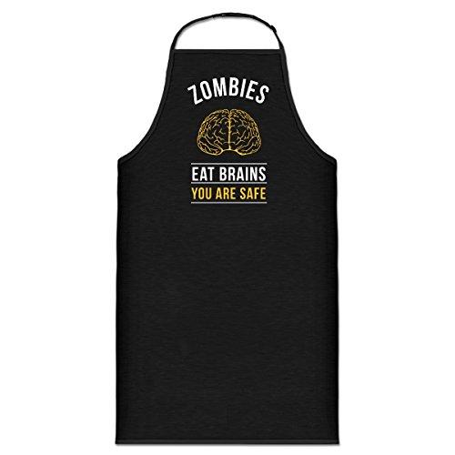 Shirtcity Zombies Eat Brains You Are Safe Kochschürze by