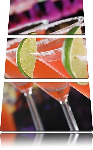 image 3 pezzi picture tela 120x80 cocktail rinfrescanti Singapore Sling su tela, XXL enormi immagini (Tela Sling)