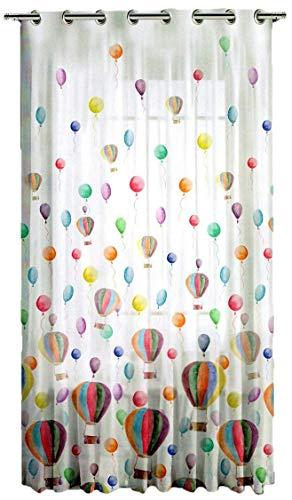 Tende cameretta bambini - pannello tende - misura cm 140 x 290 - tende confezionate con occhioli in metallo (var.1 mongolfiere)