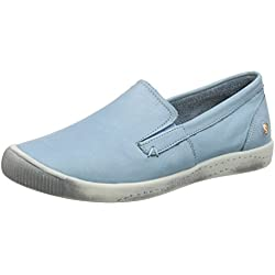 Softinos Damen Ita298Sof Pumps, Turquoise (Pastel Blue), 39 EU