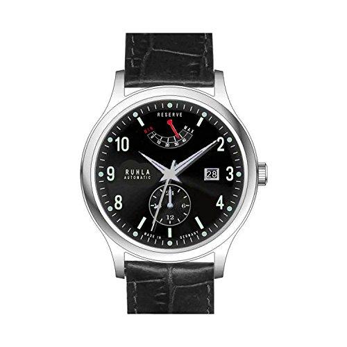 reloj–automático–acero inoxidable piel–negro