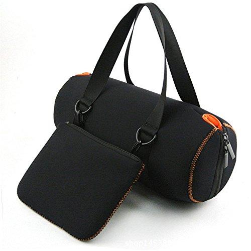 Lautsprecher Tragetasche tragbar Reise Tasche für JBL Xtreme/Flip 3Tragbarer Bluetooth Wireless Lautsprecher (Full Schutz tragen passt Ladegerät Kabel Adapter, schwarz - Liner-adapter