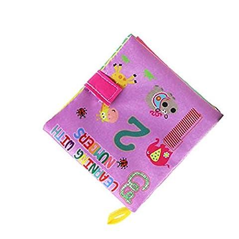 Yogogo - Tissu doux livre - Jouets pour enfants - bébé Intelligence Development En savoir Image connaître Livre (A)
