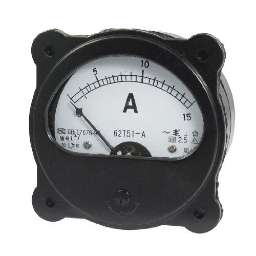 AC 0-15A Nullstellung Dial Analog Ampere Amperemeter Panel Meter schwarz -