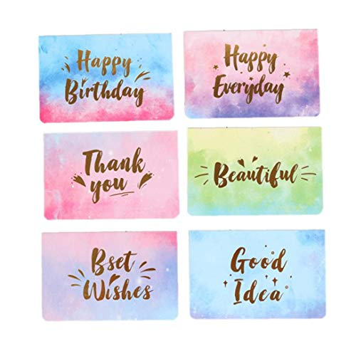 10Pcs Aquarell Folding Mitteilungs-Karte Postkarte Geburtstag Danksagung - Danken Personalisierte Kinder Ihnen Karten