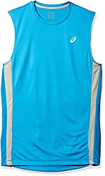 Asics Mens Big & Tall Shori Muscle Tank, Mediterranean, 3XL