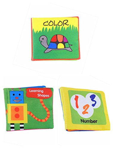 Olly Polly Kids High Quality Imported Soft Cloth Fabric Learning Books Educational Toy For Newborn Infant - Set of 3