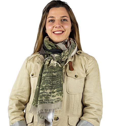 Mer's Style - Fular Bufanda Primavera Mujer,Verde
