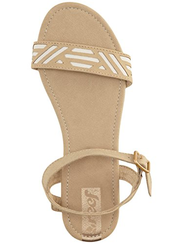 Reef Damen Day Catch Sandalen mit Knöchelriemen Beige (Tan / Cream)
