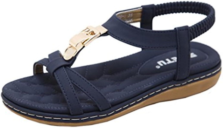5e4683d0774c Amlaiworld Outdoor Women Women Sandals Fashion Women nhta-30298 Flat Shoes  Bohemia Lady Girls Metal Buckle Sandals Outdoor Shoes B07D7SBK8W Parent  adccadb