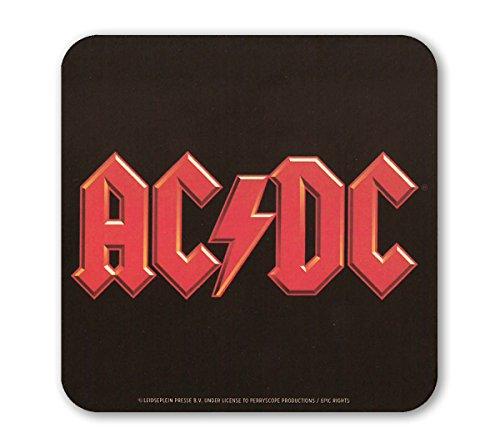 AC/DC Logo Sottobicchiere sughero - Coaster - Design originale concesso su licenza