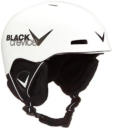 Black Crevice Kinder Skihelm Stubai, weiß/Schwarz, 1