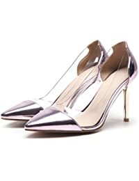 CXQ-Talons QIN&X Women's Pointy Toe Prom Bouche Peu Profonde Stiletto High Heels Pompes Chaussures,Blanc 41