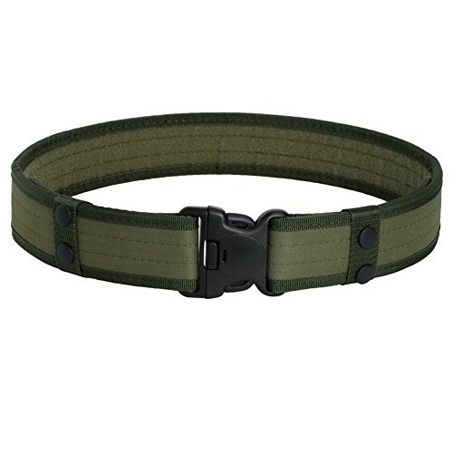 """Prime Day Father's Day Deals Week-Prime Day Father's Day Deals Week-Men's Nylon Outdoor Military 50"""" Tactical Belt Utility Adjustable and Comfortable With Plastic Buckle (GREEN)"""