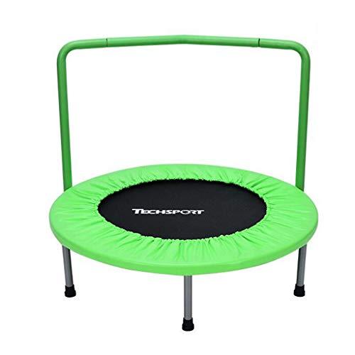Trampolini elastici per interni trampoline elastic fitness trampoline super jump training mini trampolino con trampolino spring corrimano (color : green, size : 91 * 91 * 76 cm)