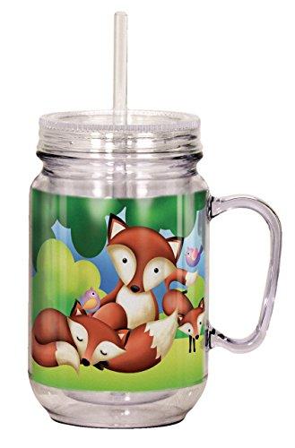 Spoontiques Fox Mason Jar, Multicolor by Spoontiques