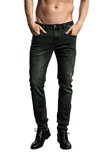 ZLZ Pantaloni Uomo Jeans Cuciture Decorative StraightFit Sguardo Jeans