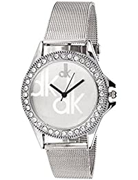 Neo Victory White Dial Analog Metal Strap Wrist Watch For Girls - Women