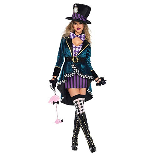 HOOLAZA Frauen Alice Cosplay Kostüme Herrliches verrücktes Hutmacher-Kostüm Stage Dress Up 7 ()