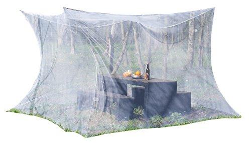 infactory Fliegennetz: Moskitonetz für Innen und Außen, 300 x 300 x 250 cm, 220 Mesh, weiß (XXL Moskitonetz)
