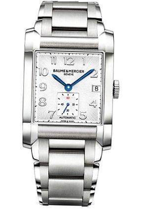 Baume & Mercier - Reloj de pulsera hombre, acero inoxidable, color plateado