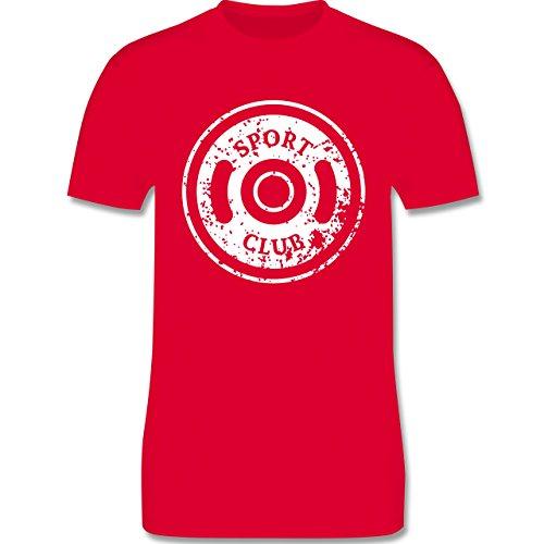 CrossFit & Workout - Sport Club Hantelscheibe - Herren Premium T-Shirt Rot